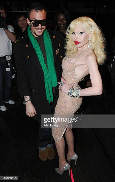 Micah Jesse and Amanda Lepore attend the A*Muse fashion show at Amnesia NYC on February 17 2010 in New York City