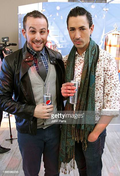 Micah Jesse and designer Christian Cota attend Diet Pepsi x Christian Cota Capsule Collection Preview at Diet Pepsi Refresh Lounge at Lincoln Center...