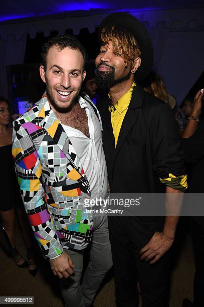 Micah Jesse and Ty Hunter attend The 6th Annual Bombay Sapphire Artisan Series Grand Finale Cohosted By Russell Simmons And Rosario Dawson During Art...