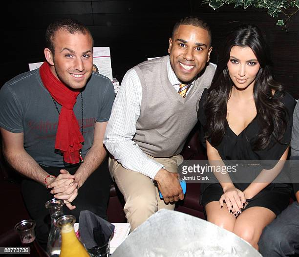 Micah Jesse BJ Coleman and Kim Kardashian attend the Ms Typed book release party at Greenhouse on May 5 2009 in New York City