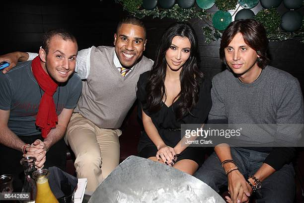 Micah Jesse BJ Coleman Kim Kardashian and Jonathan Cheban attend the Ms Typed book release party at Greenhouse on May 5 2009 in New York City