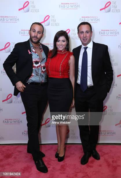 Micah Jesse Chloe Melas and Steven Beltrani attend The Pink Agenda's Annual Gala at Tribeca Rooftop on October 11 2018 in New York City