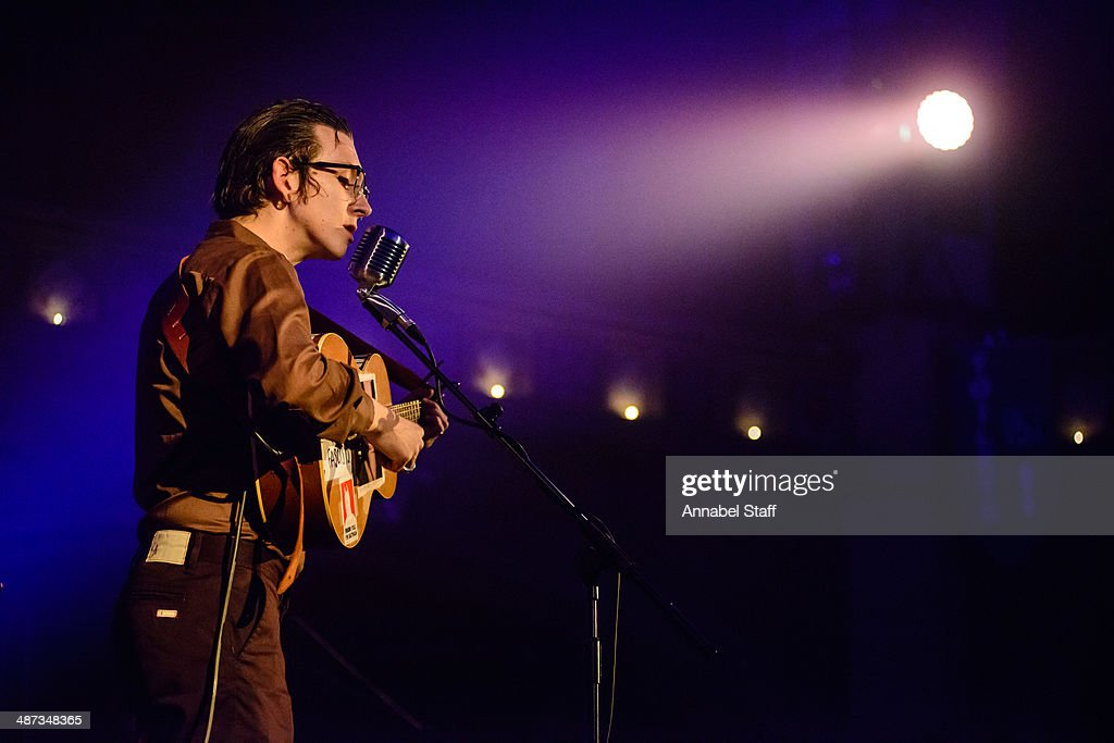 Micah P. Hinson performs on stage at the Union Chapel on April 29, 2014 in London, United Kingdom.
