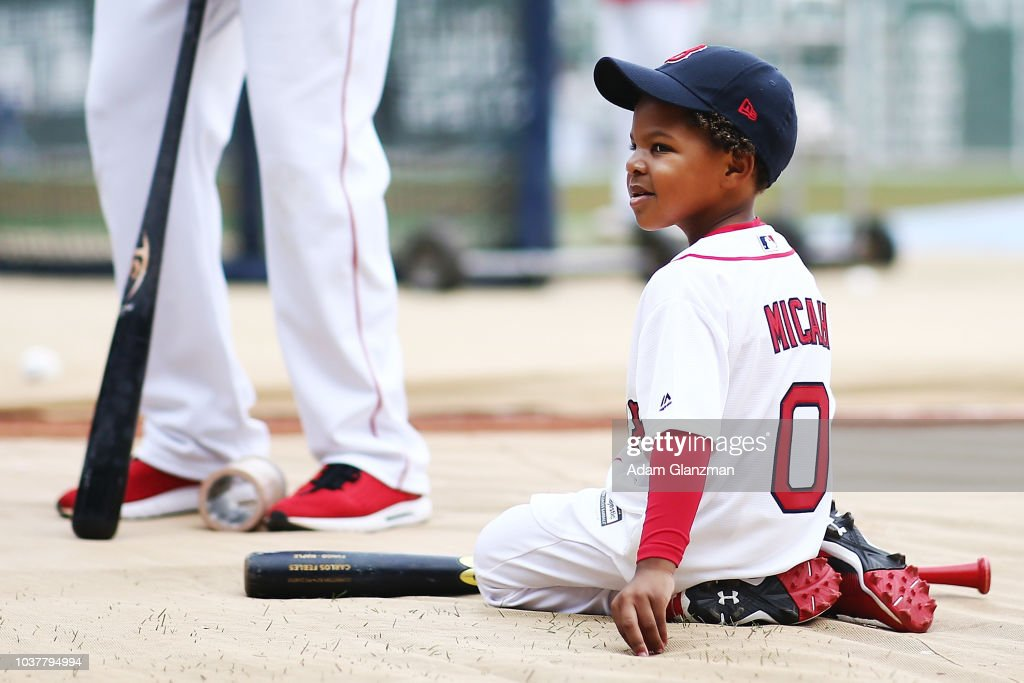 618710c6c Micah Phillips the son of Brandon Phillips of the Boston Red Sox ...