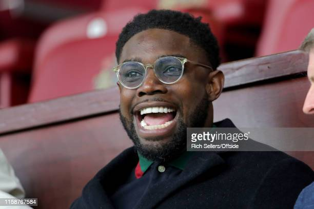 Micah Richards ex professional footballer during the pre-season friendly match between Burnley and OGC Nice at Turf Moor on July 30, 2019 in Burnley,...