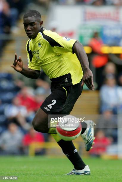 Micah Richards of Manchester City in action during the Barclays Premiership game between Blackburn Rovers and Manchester City at Ewood Park on...