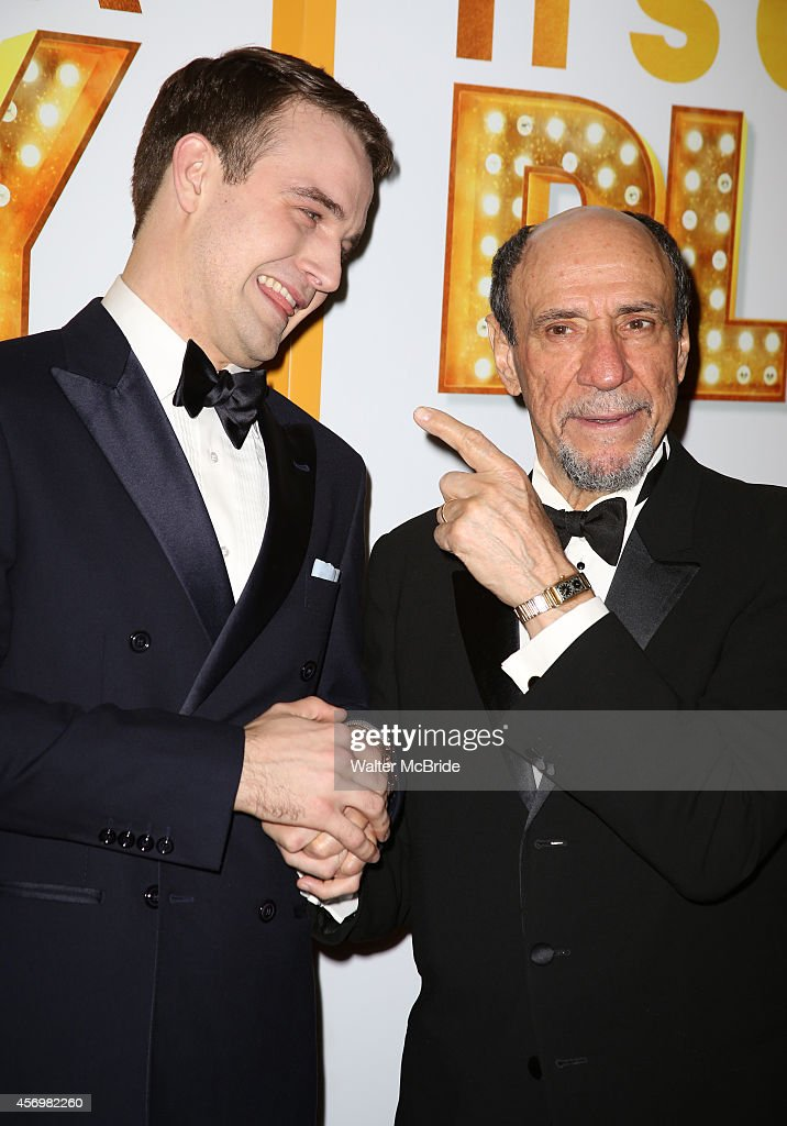 Micah Stock and F. Murray Abraham attend the Broadway Opening Night Performance After Party for 'It's Only A Play' at the Mariott Marquis on October 9, 2014 in New York City.