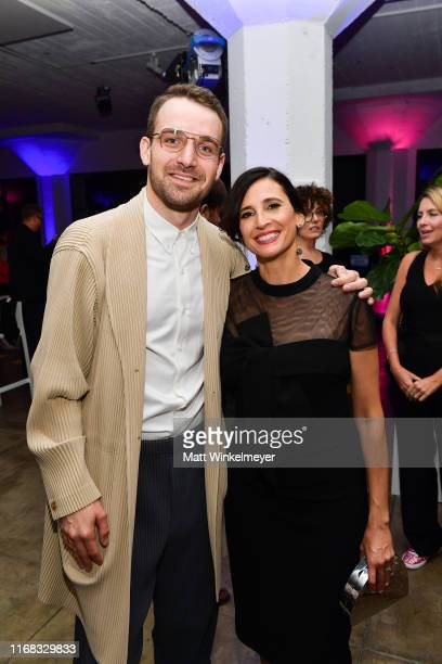 Micah Stock and Michaela Watkins attend the premiere of Amazon Studios' Brittany Runs A Marathon on August 15 2019 in Los Angeles California