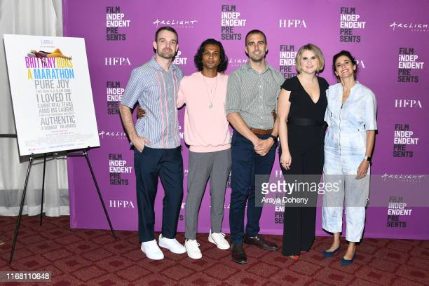Micah Stock Utkarsh Ambudkar Paul Downs Colaizzo Jillian Bell and Michaela Watkins attend Film Independent presents special screening of Brittany...