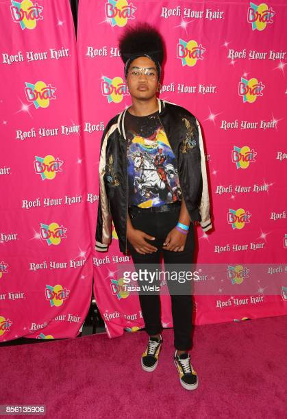 Micaiah Philips at Rock Your Hair Presents Rock Back to School Concert Party on September 30 2017 in Los Angeles California
