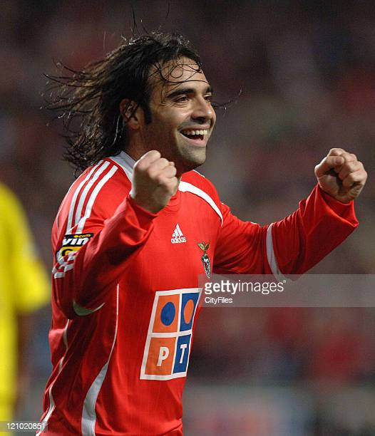 Miccoli during a Portugese league match at Stadium of Light in Lisbon Portugal on February 26 2007