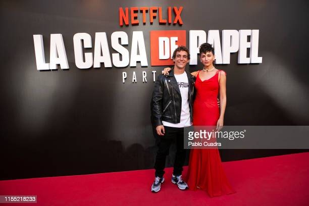 Micguel Herran and Ursula Corbero attend the red carpet of 'La Casa De Papel' 3rd Season by Netflix on July 11 2019 in Madrid Spain