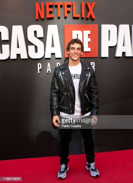 Micguel Herran attends the red carpet of 'La Casa De Papel' 3rd Season by Netflix on July 11 2019 in Madrid Spain