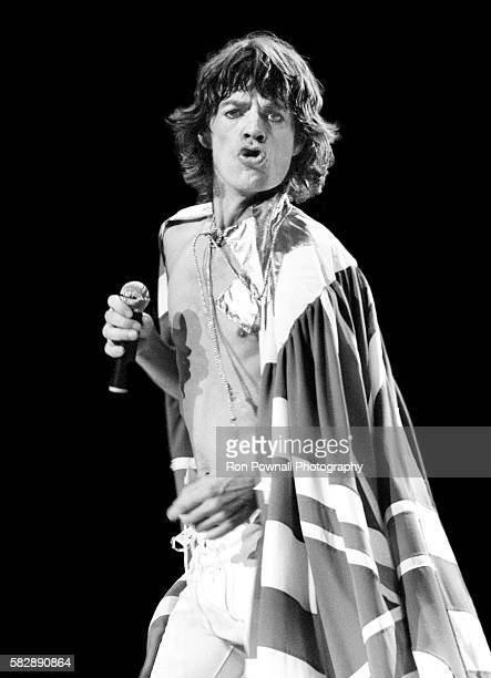 Mich Jagger Rolling Stones performing at the Hartford Civic Center CT USA Nov 7 1981