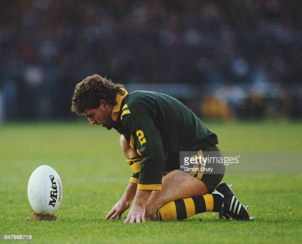 Mich O'Connor of Australia prepares to kick for a conversion during the Second Rugby League Test match against Great Britain on 8 November 1986 at...