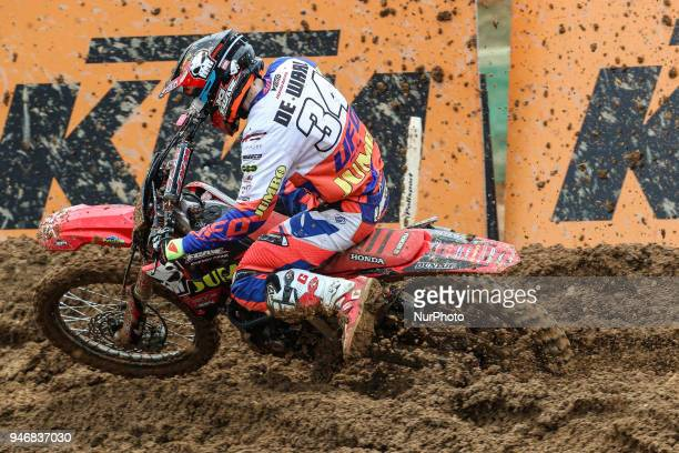 MichaBoy De Waal in Honda of Jumbo No Fear Amo Honda Team in action during the MXGP World Championship 2018 Race of Portugal on April 15 2018 in...