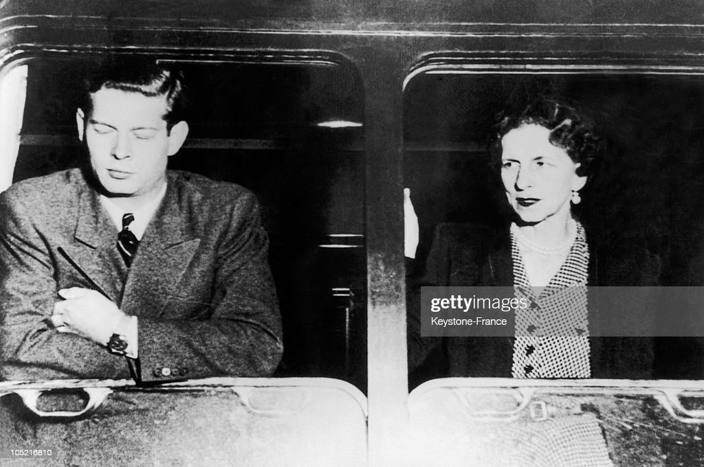 Michael 1St Of Romania Who Had Just Abdicated And His Mother, Princess Helen Of Greece, In Budapest, Hungary On June 5, 1948, A Stopover On Their Trip From Romania To Switzerland, Where They Were To Live In Exile.
