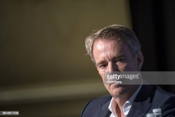 Michael Abbott executive chairman of Columbia Care LLC speaks at the Skybridge Alternatives conference in Las Vegas Nevada US on Thursday May 18 2017...