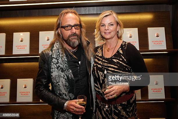 Michael Abt and Cecilia Rodhe attend the book signing of #Carlos's Places at the Assouline Boutique at The Plaza Hotel on October 9 2014 in New York...