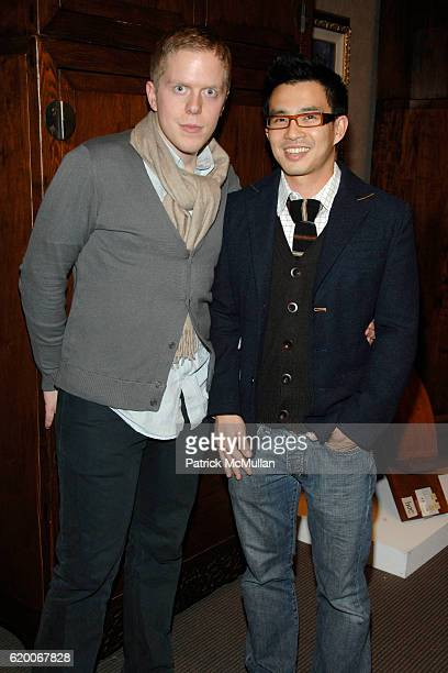 Michael Adams and Goil Amornvivat attend ELLE DECOR CHRISTIE'S host the LEXUS Young Collectors Night at Christie's on February 28 2008 in New York...