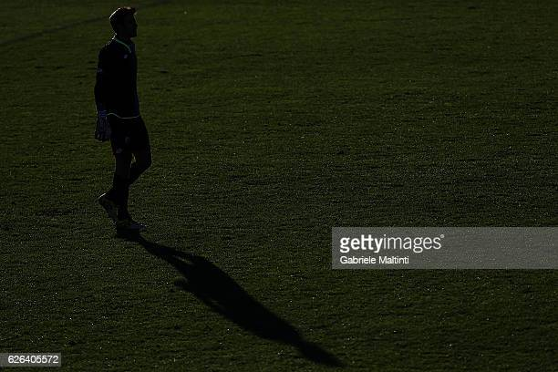 Michael Agazzi of AC Cesena looks on during the TIM Cup match between Empoli FC and AC Cesena at Stadio Carlo Castellani on November 29 2016 in...