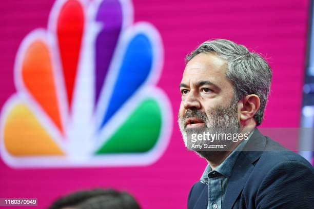 Michael Agular of Bluff City Law speaks during the NBC segment of the 2019 Summer TCA Press Tour at The Beverly Hilton Hotel on August 8 2019 in...