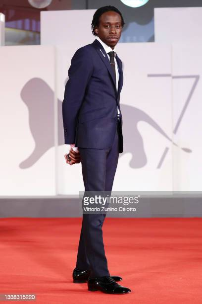 """Michael Ajao attends the red carpet of the movie """"Last Night In Soho"""" during the 78th Venice International Film Festival on September 04, 2021 in..."""