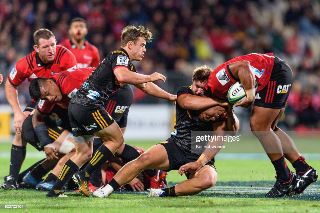 Super Rugby Rd 2 - Crusaders v Chiefs : News Photo