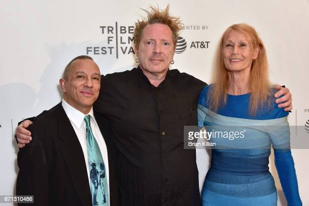 Michael Alago John Lydon aka Johnny Rotten and Nora Forster attend the 2017 Tribeca Film Festival The Public Image Is Rotten screening at Spring...