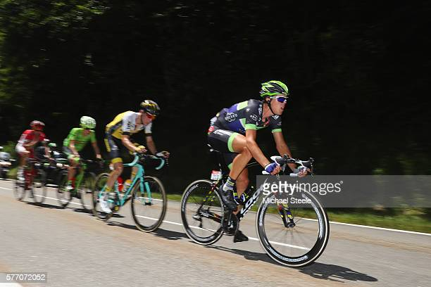 Michael Albasini of Switzerland and Orica BikeExchange heads the second breakaway group during the 209 kms stage 16 of Le Tour de France from...