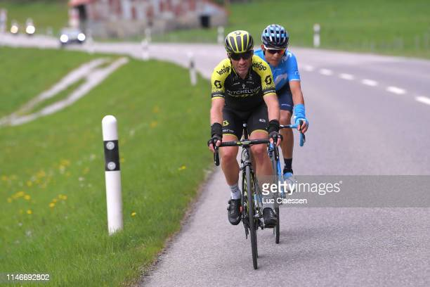 Michael Albasini of Switzerland and Team MitcheltonScott / Andrey Amador Bikkazakova of Costa Rica and Movistar Team / during the 73rd Tour de...