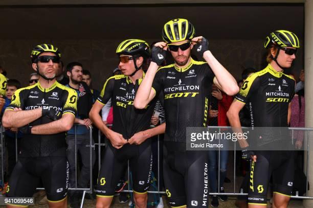 Michael Albasini of Switzerland and Team MitcheltonScott / Lucas Hamilton of Australia and Team MitcheltonScott /Damien Howson of Australia and Team...
