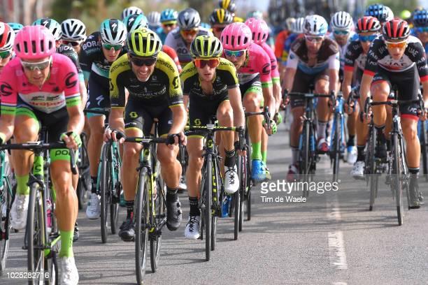 Michael Albasini of Switzerland and Team MitcheltonScott / Simon Yates of Great Britain and Team MitcheltonScott / during the 73rd Tour of Spain 2018...