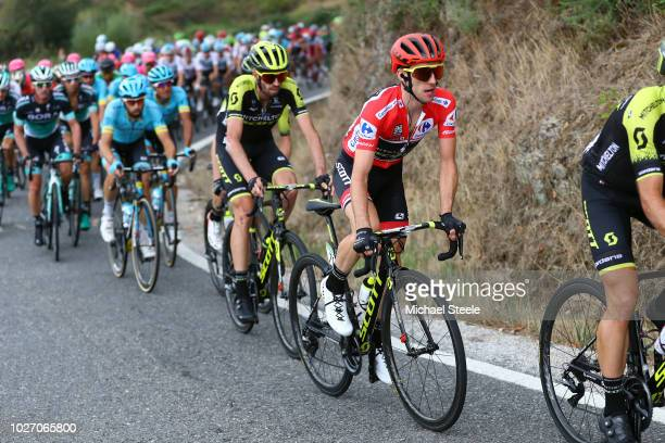 Michael Albasini of Switzerland and Team MitcheltonScott / Simon Yates of Great Britain and Team MitcheltonScott Red Leader Jersey / during the 73rd...