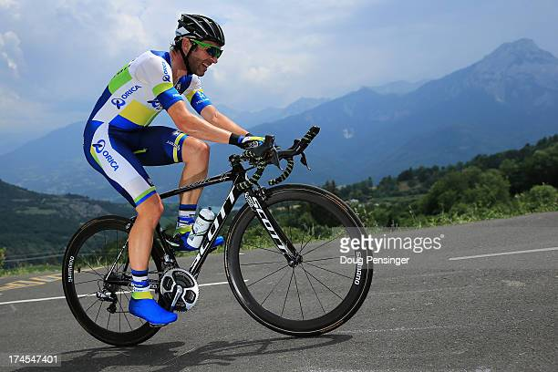 Michael Albasini of Switzerland riding for Orica-GreenEDGE competes during stage seventeen of the 2013 Tour de France, a 32KM Individual Time Trial...