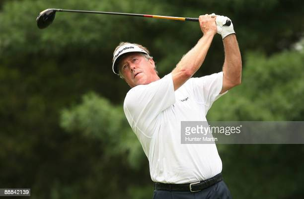 Michael Allen hits his tee shot on the third hole during the final round of the AT&T National at the Congressional Country Club on July 5, 2009 in...