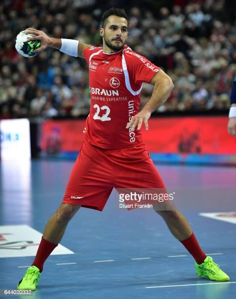 Michael Allendorf of Melsungen in action during the DKB Handball Bundesliga game between THW Kiel and MT Melsungen at Sparkassen Arena on February 22...