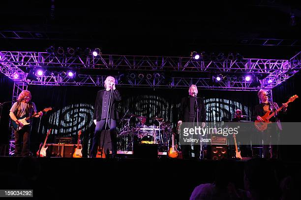 Michael Allsup, Danny Hutton, Cory Wells, Jimmy Greenspoon and Paul Kingery of Three Dog Night perform at Seminole Casino Coconut Creek on January 5,...