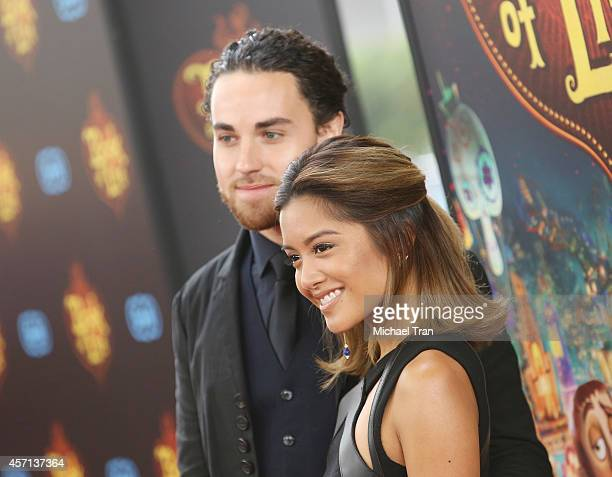"Michael Alvarado and Carissa Rae Alvarado of Us The Duo arrive at the Los Angeles premiere of ""Book Of Life"" held at Regal Cinemas L.A. Live on..."