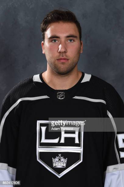 Michael Amadio of the Los Angeles Kings poses for his official headshot for the 20172018 season on September 12 2017 at the Toyota Sports Center in...