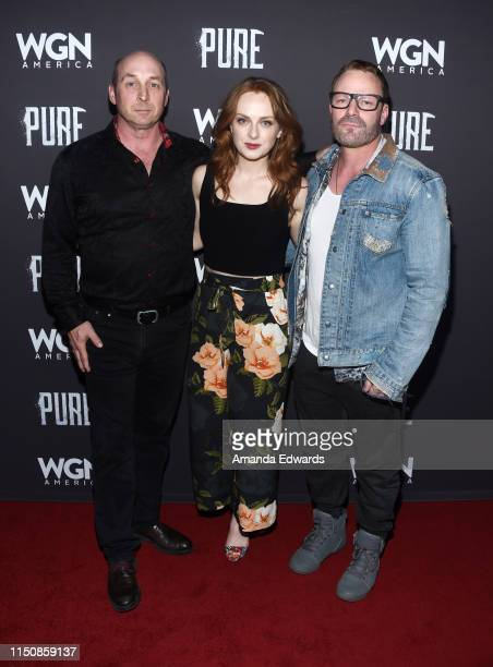 Michael Amo Alex PaxtonBeesley and Ryan Robbins arrive at WGN America's Pure Season 2 Premiere on May 21 2019 in West Hollywood California