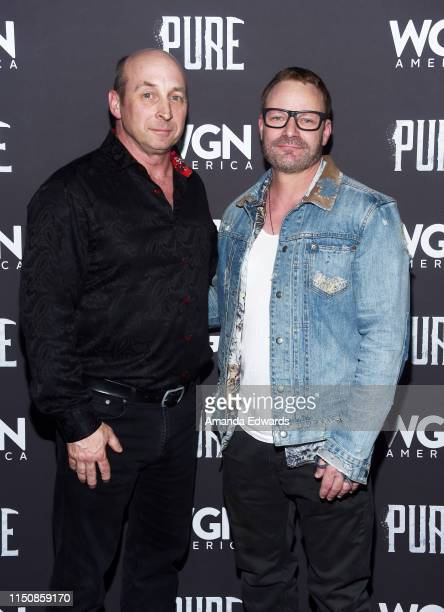 Michael Amo and Ryan Robbins arrive at WGN America's Pure Season 2 Premiere on May 21 2019 in West Hollywood California