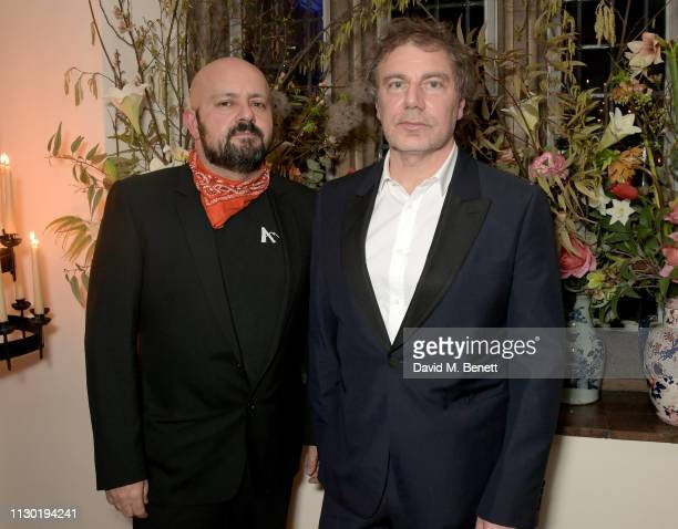 Michael Amzalag and Mathias Augustyniak attend the FrancoisHenri Pinault and Sarah Burton dinner In celebration of the Alexander McQueen Old Bond...