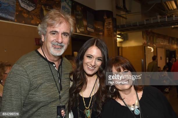 Michael and Alyssa Bonagura and Kathy Baillee backstage during 1 Night 1 Place 1 Time A Heroes Friends Tribute to Randy Travis at Bridgestone Arena...