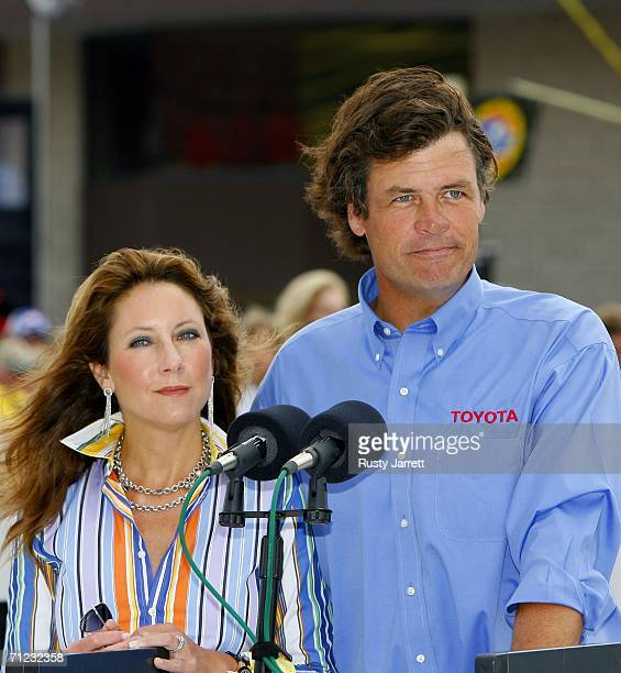 Michael and Buffy Waltrip announce the sponsors Buger King and Dominos for Michael Waltrip Racing prior to the start of the NASCAR Nextel Cup Series...