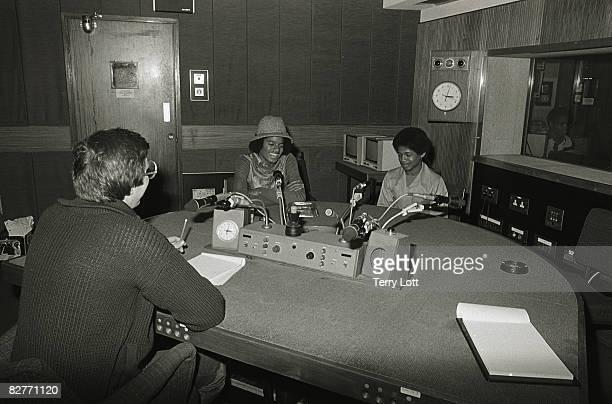 Michael and Randy Jackson being interviewed at BBC Radio London 1977