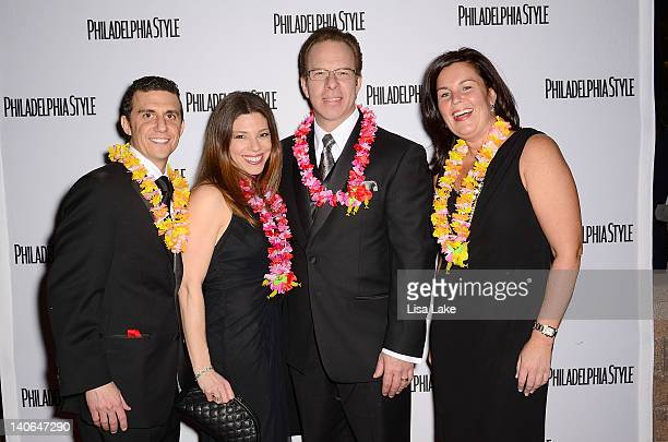 Michael and Rochelle Steinberg John Ranere and Wendy Hamilton attends Philadelphia Style Magazine Cover Event Hosted By Tory Burch at Pennsylvania...
