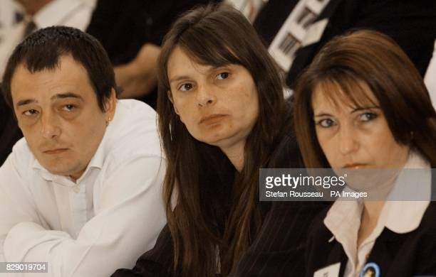 Michael and Sara Payne parents of murdered schoolgirl Sarah and Denise Fergus the mother of murdered toddler Jamie Bulger during a press conference...