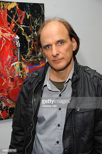 Michael Andre attends Aelita Andre Exhibit Opening Night at Gallery 151 on October 28 2014 in New York City