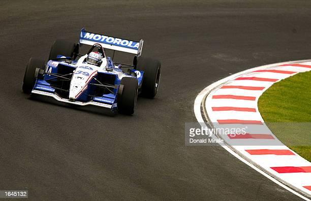 Michael Andretti drives the Team Motorola Honda Lola during practice for the Gran Premio GiganteTelmex round 19 of the CART Fed Ex Championship...